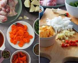 ingredientes para kalderetang manok
