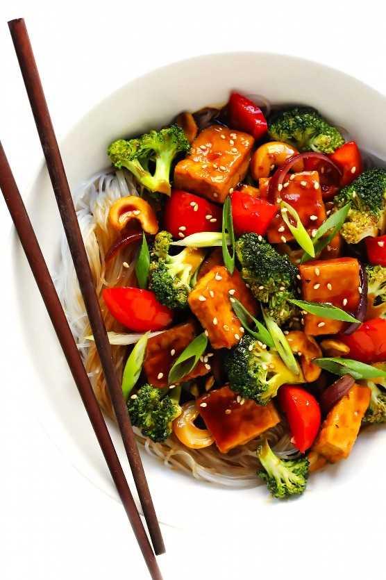 Receta de salteado de tofu y anacardo | Dame un poco de horno