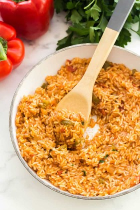 cucharada de arroz mexicano