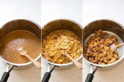 Mezclar los ingredientes en una cacerola