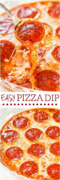 Easy Pizza Dip: ¡los amantes del queso y los fanáticos de la pizza adorarán esta salsa rápida y fácil! ¡Comida de fiesta perfecta que es un éxito garantizado! ¡¡Ese queso!!
