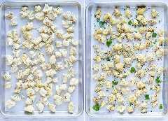 Fotos instructivas que muestran cómo asar la coliflor en el horno.