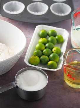 ingredientes para magdalenas calamansi