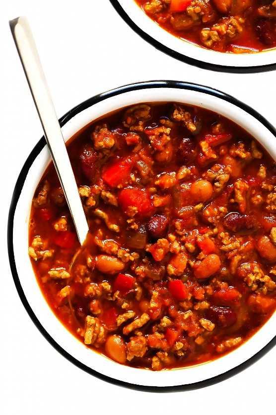 Receta de chile con frijoles y carne de res