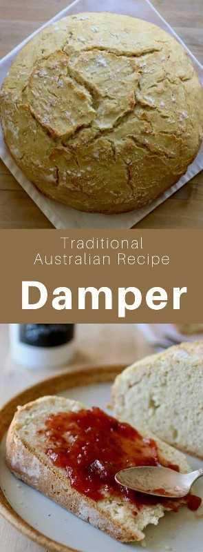 El apagador o pan de monte es un delicioso pan sin levadura australiano tradicionalmente horneado en brasas, pero que también se puede hornear en el horno. # Australia #Cocina Mundial # 196 sabores