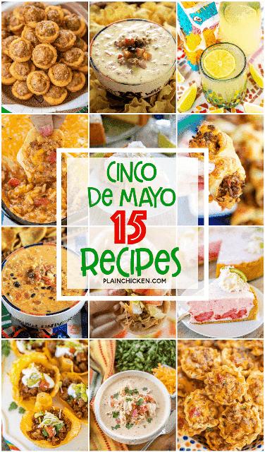 collage de fotos de comida mexicana