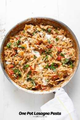 One Pot Lasagna Pasta de thelittlekitchen.net