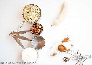 ingredientes para batido de canela
