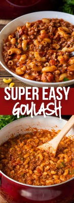 Receita americana FÁCIL da goulash