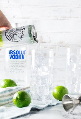 Cocktail de refrigerante de vodka