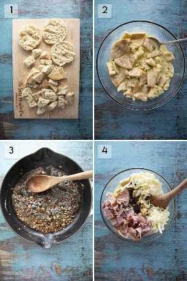 cómo hacer una sartén de desayuno con muffins ingleses