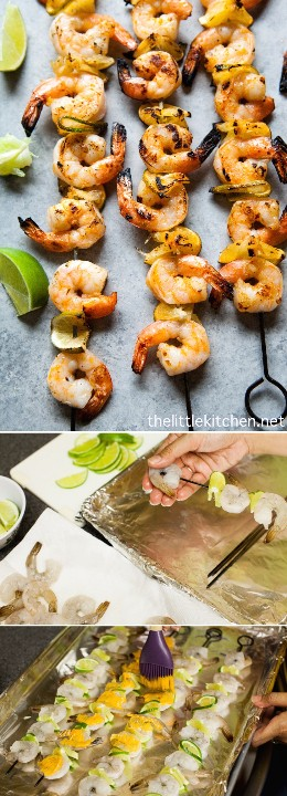 (So ​​easy to do!) Sriracha Lime Grilled Shrimp from thelittlekitchen.net