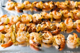 Grilled shrimp with Sriracha lime from thelittlekitchen.net