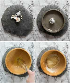 Cómo hacer alioli de ajo asado - paso a paso