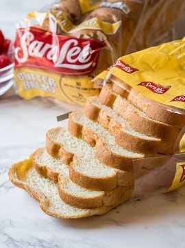 ¡Comience su tostada francesa con un pan ligero y esponjoso como este pan de mantequilla Sara Lee!