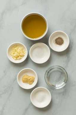 Ingredientes básicos de vinagreta