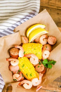 Shrimp, corn and more come together for a meal everyone will love in this recipe for Boiling Shrimp Crock Pot. This slow cooker shrimp boil is a must try!