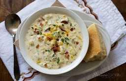 Sopa de queso y papa a la olla a presión