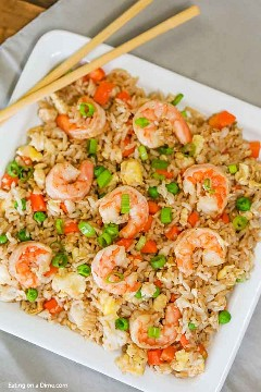 Skip the takeaways and make this delicious shrimp fried rice recipe at home in minutes. Shrimp and vegetables have the best flavor to make the perfect meal.