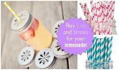conjunto de imágenes de limonada