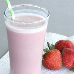 square strawberry protein shake