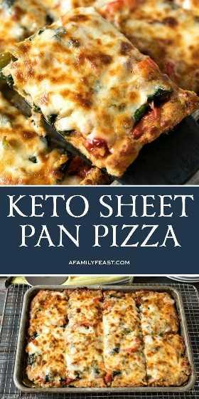 Keto Sheet Pan Pizza - A family party