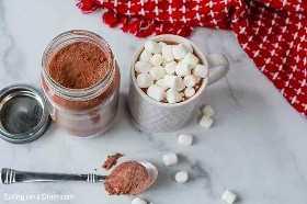 Você vai adorar esta receita caseira de mix de chocolate quente que você pode armazenar facilmente em uma jarra. Eu sempre tenho isso na minha despensa e é ótimo distribuir essa mistura instantânea de chocolate quente também. Espero que você goste dessa mistura caseira de chocolate quente. #bomdia #bomdia #bomdia #bomdia