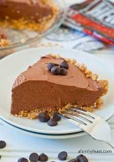 Pastel de chocolate sin hornear - Una fiesta familiar
