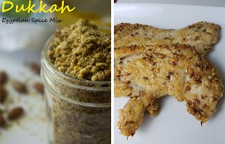 dukkah spices and chicken. Dukkah mix of Egyptian spices. Perfect spice mix for poultry, meat and vegetables.