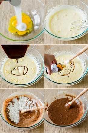 Fotos paso a paso cómo hacer masa de pastel de lava de chocolate