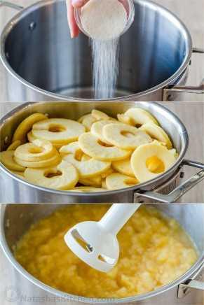 Como fazer passo a passo instruções para fotos de molho de maçã