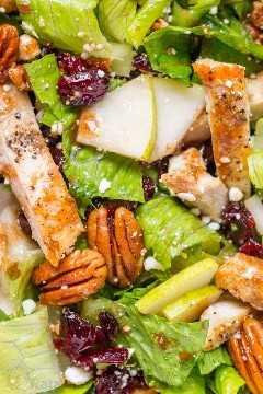 Receita de salada de frango com vinagrete balsâmico