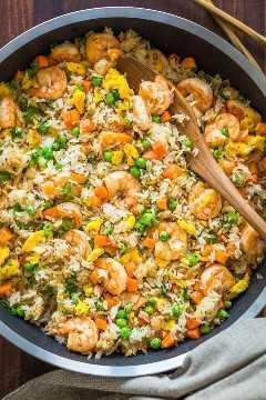 Receita de arroz frito