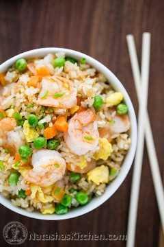 Receita de arroz frito chinês