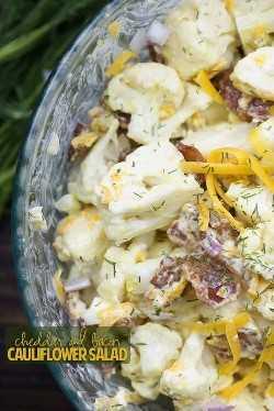 salada de cheddar e couve-flor