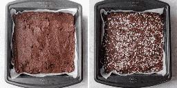 Antes y después de hornear la masa