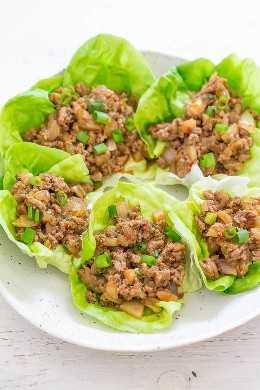 P.F. Envolturas de lechuga de pollo de Chang {Receta de imitador} - ¡Omita la versión del restaurante y hágalo en casa en 20 minutos! ¡FÁCIL, más saludable porque estás controlando los ingredientes, y SABAN MUCHO MEJOR!