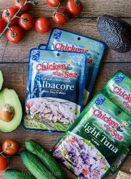 Estes sacos de atum albacora da Chicken of the Sea NO DREN, tornando-os perfeitos para almoços e lanches rápidos!