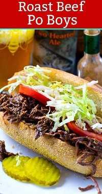 Roast Beef Po Boys #mardigras #neworleans #sandwich