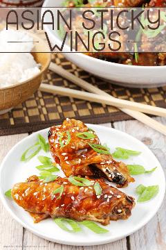 Comece o seu dia de jogo com estas asas asiáticas! Eles são o lanche perfeito ou lanche! # 12bloggers