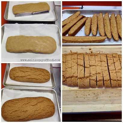 Biscotti de chocolate Graham Honey Honey - Asse uma vez, leve à geladeira, fatie e asse de cada lado. www.soliloquyoffood.com através do Love Bakes