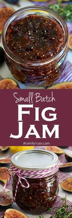 Esta receita pequena do lote Fig Jam é fácil e perfeitamente doce. Uma ótima maneira de cozinhar com figos sazonais.