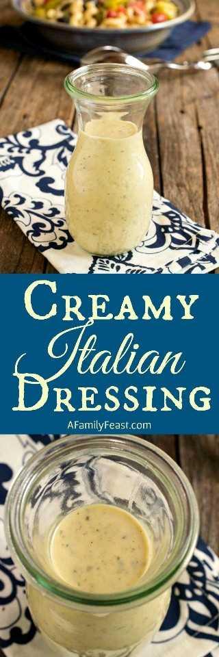 Este molho italiano cremoso caseiro não poderia ser mais fácil de fazer! Feito com ingredientes que você provavelmente tem em sua cozinha.