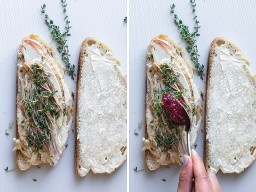 Colagem mostrando como colocar os ingredientes no pão