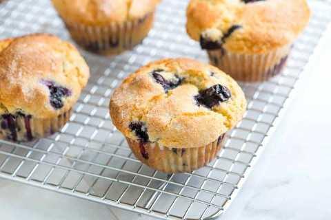 Receita rápida e fácil de muffin de mirtilo