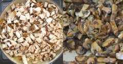 cocinar los champiñones hasta que estén suaves