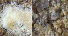 Agregar queso parmesano al risotto