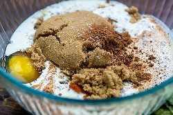 ingredientes para torta de abóbora