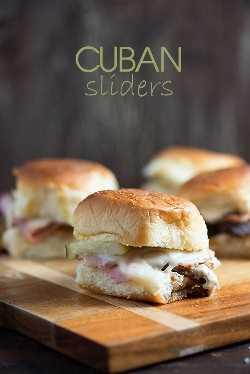 Estes mini sanduíches cubanos são o uso perfeito para essa carne de porco picada!