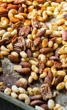 Cajun Nuts - Faça um ótimo lanche para festas ou lanche de férias. Aromatizado com muita especiaria, um pouco de açúcar e gordura de bacon!